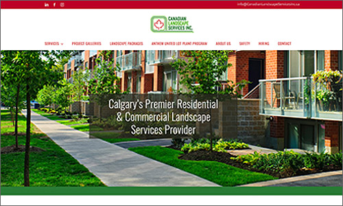 calgary website design - Canadian Landscape Services