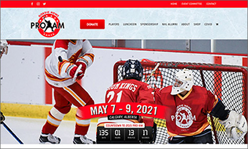 calgary website design - Gordie Howe Cares