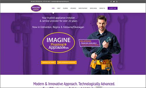 calgary website design - Imagine Plumbing
