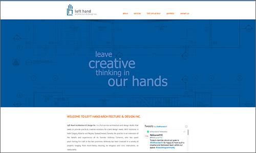 calgary website design - Left Hand Architecture