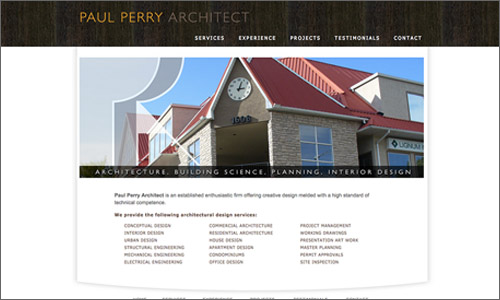 calgary website design - Paul Perry Architect